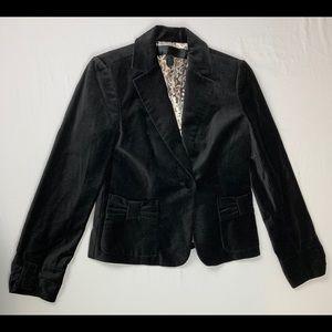 Apostrophe black velvety blazer
